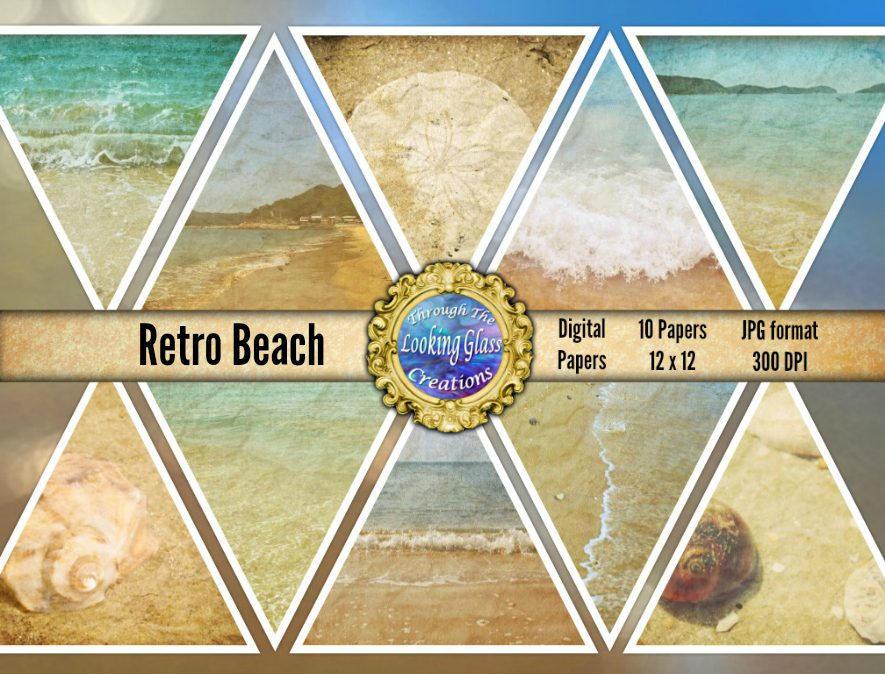 Beach Digital Paper Beach Photo Backdrops Paper Beach