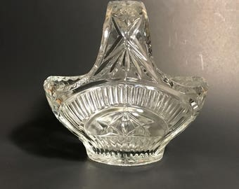 Vintage Pressed Glass Rindskopf Basket C1934