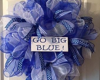 Kentucky Wildcats Go Big Blue Wreath University of Kentucky