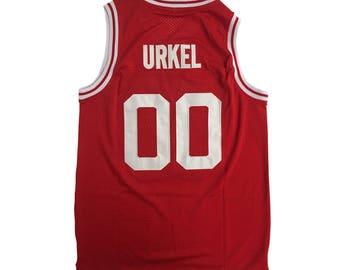 Steve Urkel Basketball Jersey # 00 Vanderbilt As Worn In Family Matters TV Show High School Muskrats Shirt 90s Costume Adult Red