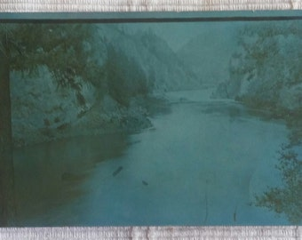 See Shop For Coupon Nice 1916 Antique Cyanotype RPPC Real Photo Postcard Spirit Lake Idaho Excellent Posted
