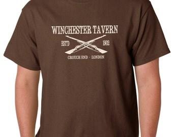 Shaun Of The Dead - Taberna de Winchester - Camiseta - Película de culto y película inspirada - Pantalla de mano impresa
