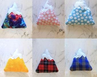 READY TO SHIP - Color Print Mountain Pillow Soft Home Decor Nursery Adventure Cozy Cabin