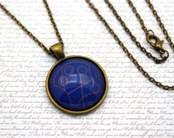 Harry Potter and Doctor Who, 'Ravenclaw' in Gallifreyan, Gallifrey Necklace or Keychain, Keyring