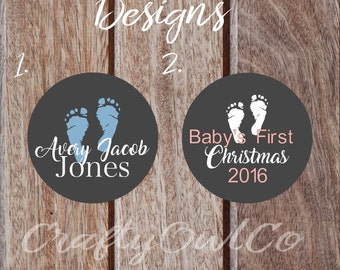 Personalized Christmas Tree Ornament, Baby's First Christmas, Baby Ornament, Monogram Ornament