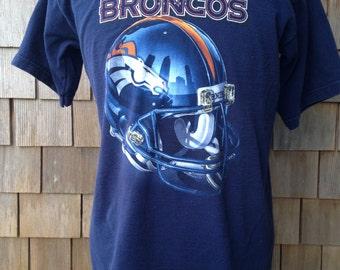 Vintage 90s DENVER BRONCOS T Shirt by Pro Player - Medium / Large