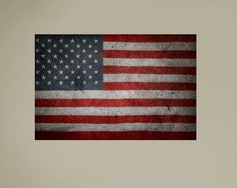 American Flag | American Flag Decor | Rustic Decor | Rustic Home Decor | Rustic Wall Decor | American Flag Art | American Flag Decal