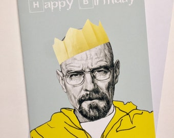 Breaking Bad Illustrative A5 Birthday Card - Walter White/Bryan Cranston