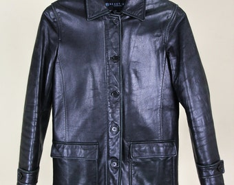 Kenneth Cole Leather Coat