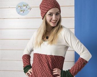 "Wendebeanie ""Saxon Braid"" wool fleece"