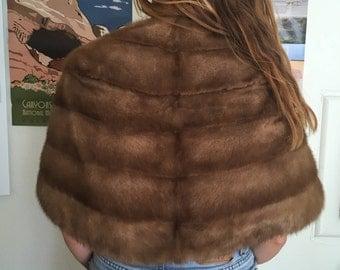VINTAGE 1940's-1950's Mink Fur Stole