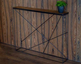 console table entrance table entryway table narrow table oak console table