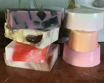 Soap gift set, body soap, natural soap, soap set, gift for women, gift for Valentines, gift idea, gift for friend, soap bar, scented soap