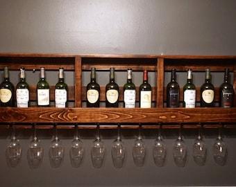 Wall Mounted Wine Rack/Glass Holder