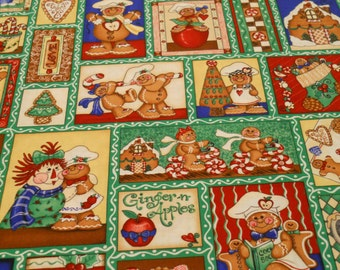 Apples & Gingerbread Christmas Fabric