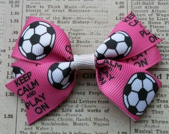 Soccer Hair Bow, party favors, girls hair bows, soccer favors