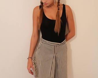 Vintage John Paul Gaultier Striped Mini Skirt