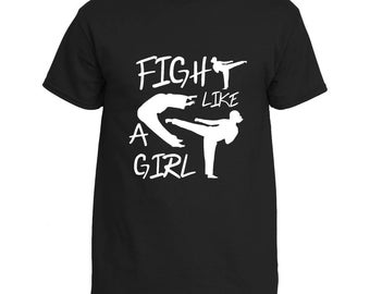 Martial Arts Karate Taekwondo Fight Like A Girl Shirt