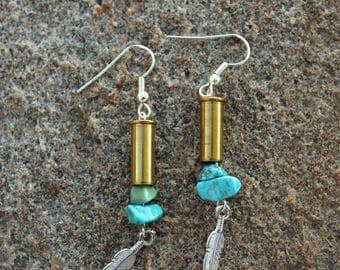 Bullet Earrings-.22 Caliber Earrings-Brass Earrings