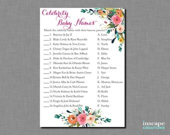 Baby Shower Celebrity Name Game