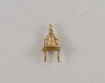 14k Yellow Gold American Independence Philadelphia Liberty Bell Pendant