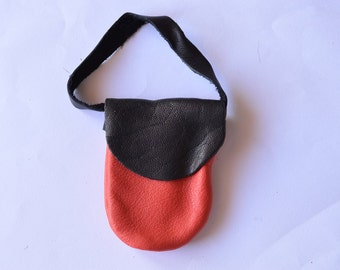 bag for dolls (red and black)