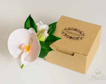 Bridal accessories, wedding boutonniere, white orchid  boutonniere
