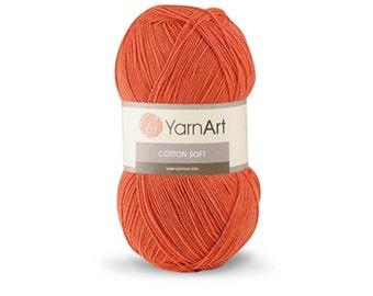 YarnArt COTTON SOFT cotton yarn crochet cotton yarn soft yarn spring yarn summer yarn blend yarncolor choice hand knit yarn acrylic yarn