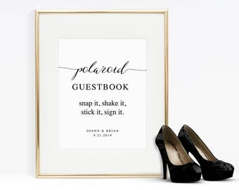 polaroid guest book etsy. Black Bedroom Furniture Sets. Home Design Ideas