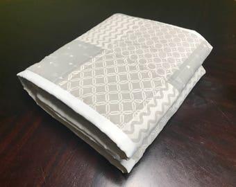 Gray & White Baby Quilt