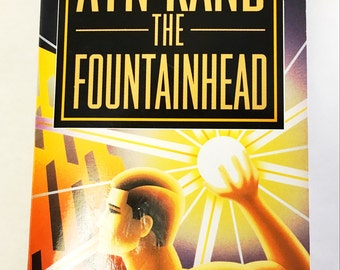 The Fountainhead book by Ayn Rand.  15th PRINTING.  Afterword by Leonard Peikoff.  Libertarian, economics, capitalism, free thinker