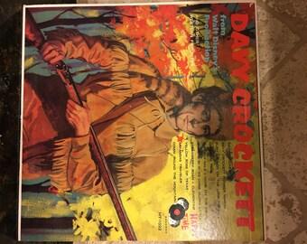 Walt Disney Happy Time Davy Crockett LP VG HT-1022 Ultra Rare Childrens Record