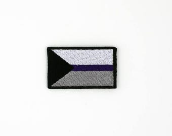 Demisexual Pride Flag Patch, Iron on Patch, Sew on Patch, Pride Flag Pin