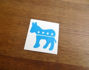 Democratic Donkey Vinyl Decal // Choose Your Color and Size