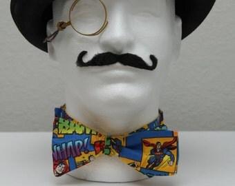 Comic Book Superman Self Tie Bow Tie