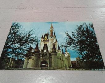Cinderella castle Walt Disney World vintage postcard