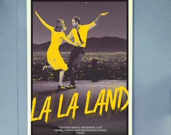 La La Land Alternative Movie Poster // Retro 50s-Inspired La La Land Print // La La Land Movie Wall Art // Gifts for Her + Gifts for Him
