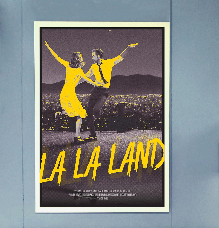 la la land alternative movie poster retro 50s inspired la. Black Bedroom Furniture Sets. Home Design Ideas