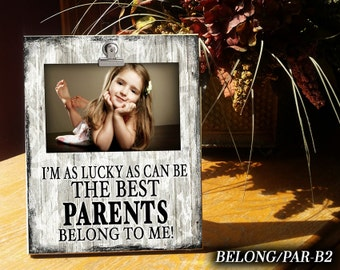 BELONG_PAR: Gift for Parents, Clip Frame, Photo Frame, Frame, Gift for Parent, Gift for Mom & Dad, Gift for Mom, Gift for Dad, Gift