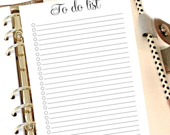 TO DO LIST,  Bullet List, Printable Planner To Do List, A5 To Do List, To Do List Planner, A5 Binder Inserts, To Do List Printable, Notebook
