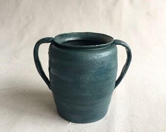 Ceramic Canister, Blue, Matte, Handmade, Wheel Thrown, Pottery, Pot, Rustic, Vase, Utensil Holder, Housewarming, Mothers Day