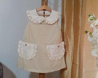 Model: JMCC-OOO14-MC, child dress girl, cotton dress, dress girl with pockets