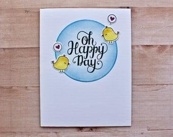 Wedding Card - Wedding Day Card - Engagement Card - Anniversary Card - Couple Card - LGBT Card - Love Card - Love you Card - Oh Happy Day
