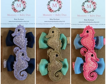 CLEARANCE! Under the Sea Baby Hair Clips