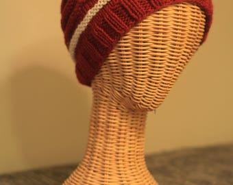Cranberry and Cream Hat