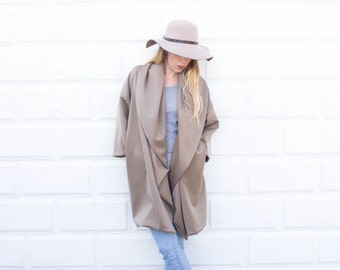Tan oversized coat, oversized coat, women's winter coat, winter coat, long winter coat, women's coat,women's oversized coat,comfortable coat