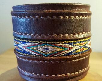 Leather Cuff Bracelet, Leather Cuff, Leather Cuff Men, Leather Bracelet, Leather Wrist Cuff, Handmade Leather Cuff, Brown Leather Cuff