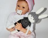 Knit Stuffed Animal bunny rabbit crochet toy  stuffed animal kids toy Baby Soft Toy Plush Doll