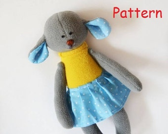 Sewing Pattern Mouse  PDF Stuffed Toy Plush Toy Animal Sewing Pattern pdf  Mouse baby