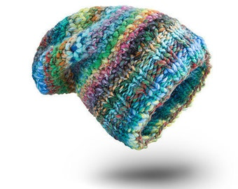 Thick Hat Chunky Pastel Wool for women beanie hat  chunky hand knit hat